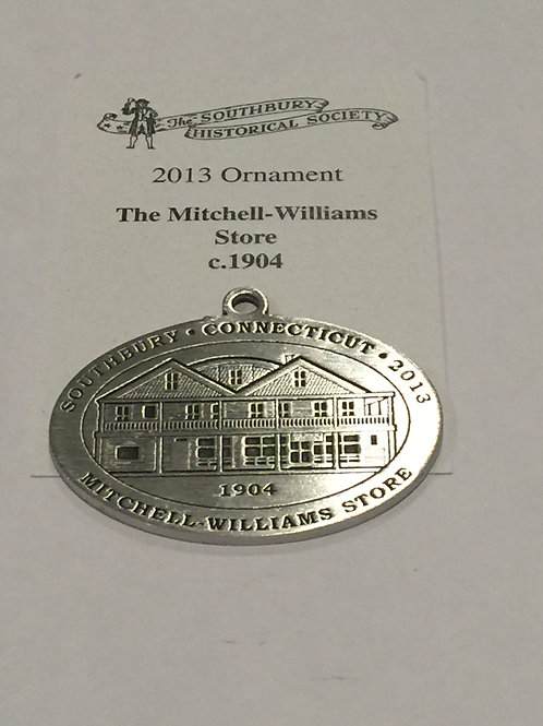 2013 Pewter Ornament, The Mitchell-Williams Store