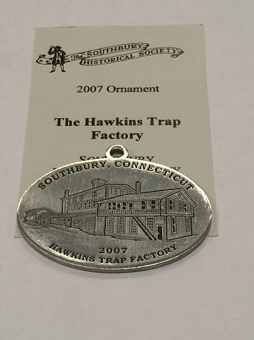 2007 Pewter Ornament, The Hawkins Trap Factory