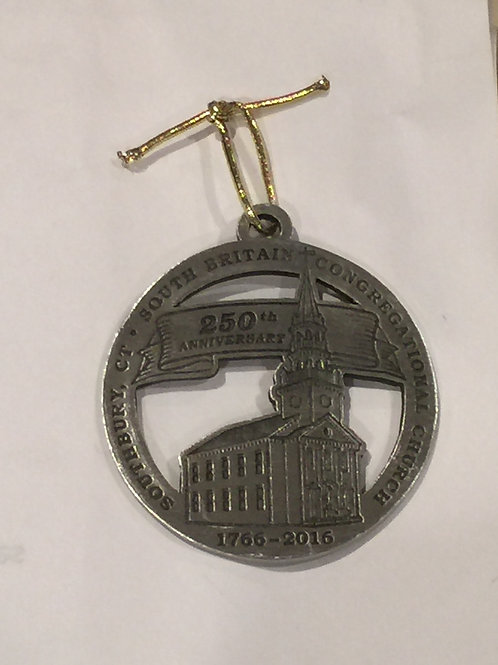 2016 Pewter Ornament, South Britain Congregational Church 250th Anniversary