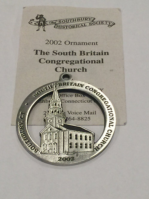 2002 Pewter Ornament, South Britain Congregational Church