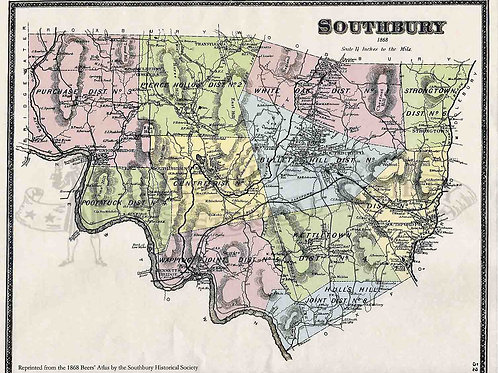 Southbury Beers Map, 1868