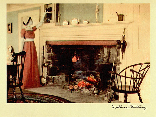 Wallace Nutting Holiday Hearth Card