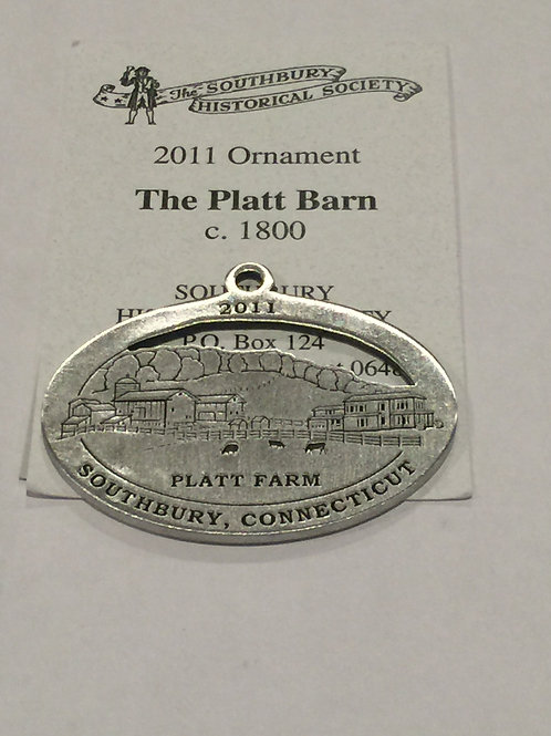 2011 Pewter Ornament, The Platt Barn