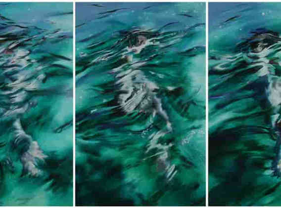 'Shattered Green Triptych'