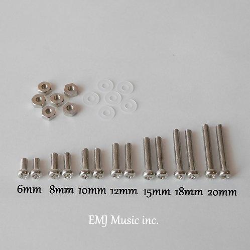 EMJ 7 size Brass Screw Set for phono cartridge & headshell
