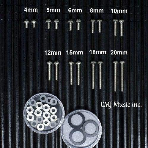 EMJ 9 size Screw & Washer Set for cartridge & headshell 9SW Free Shipping