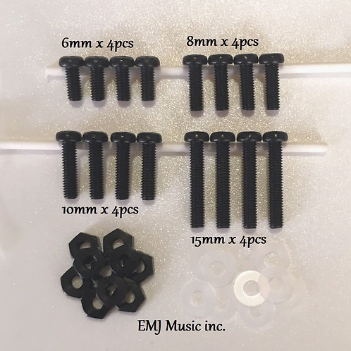 EMJ 4 size Brass Screw Set for phono cartridge & headshell 4BS