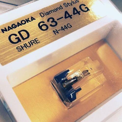 NAGAOKA Stylus 63-44G for SHURE M44 series+PRESENT