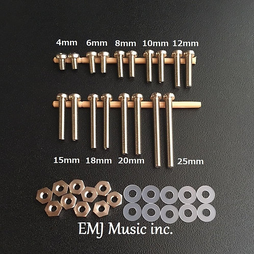 EMJ 9 size Brass Screw Set for phono cartridge & headshell 9C
