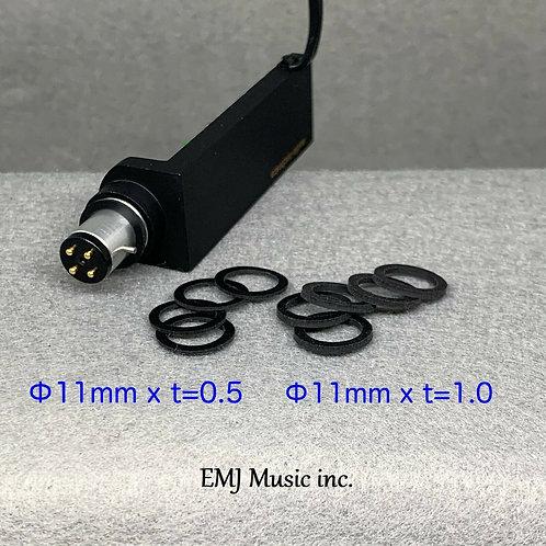 EMJ Φ11mm Slim type t=0.5 & 1.0mm Headshell Washer EWX-11M Made in Japan New
