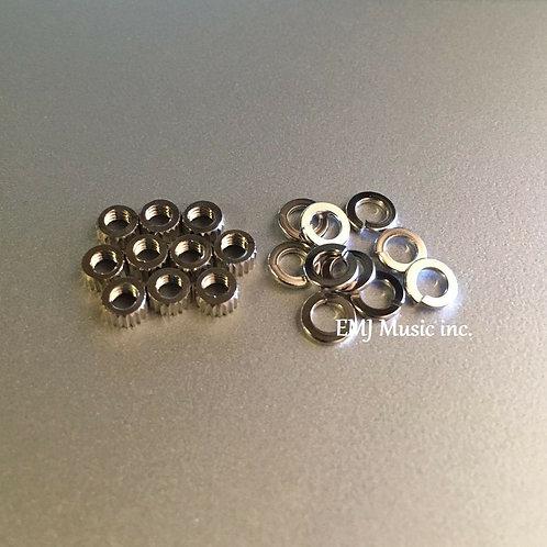 EMJ 10pcs round nut washer for phono cartridge & headshell 10N