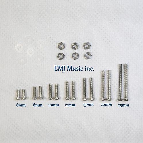 EMJ 7 size Brass Screw Set for phono cartridge & headshell 7A