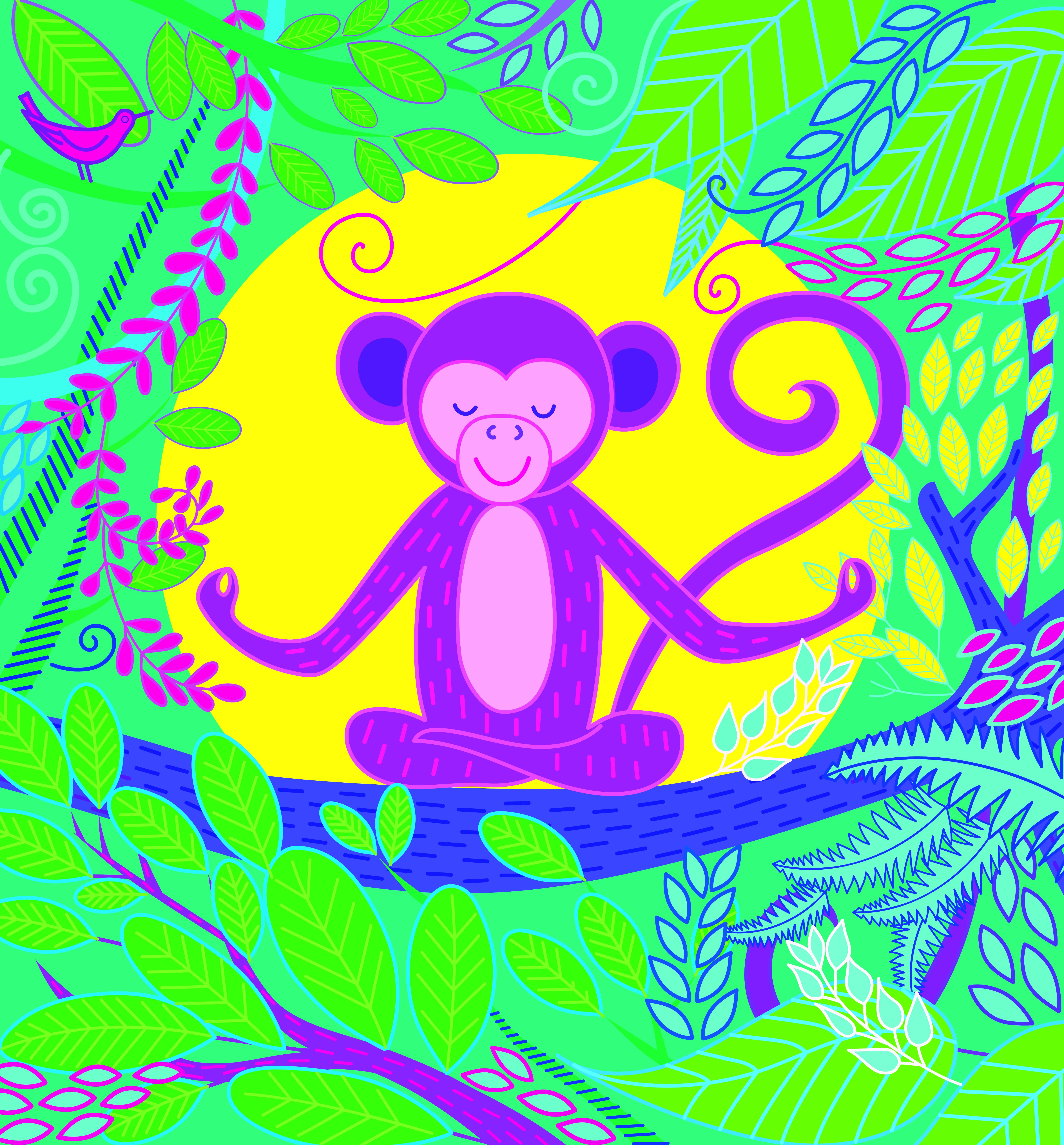 monkey CMYK