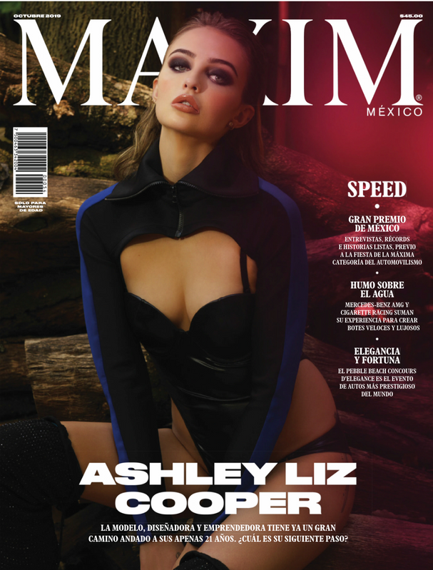 Maxim Mexico October 2019 Cover- Ashley Liz Cooper