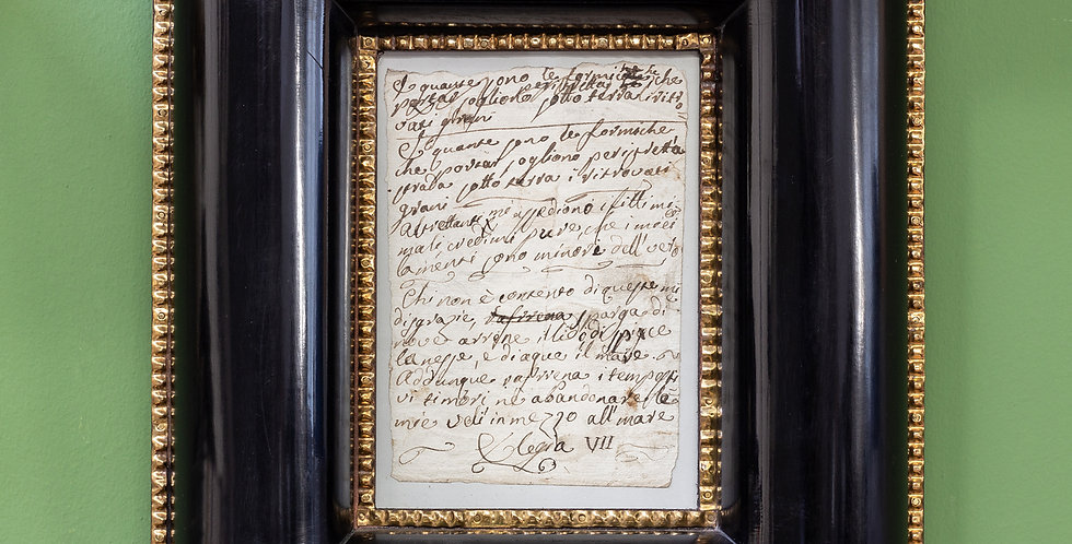Nota manuscrita italiana. s/XVIII