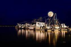 Full Moon at the Harbor