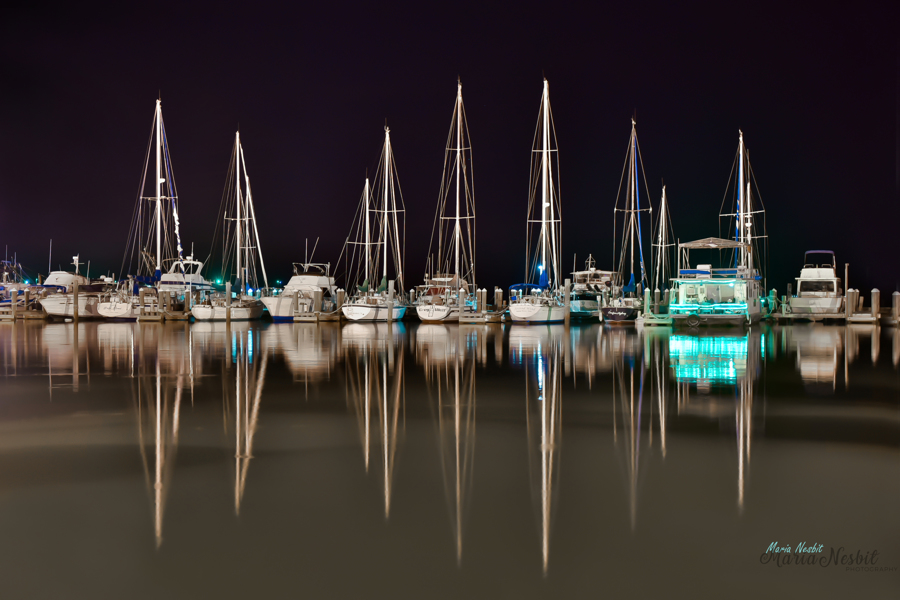 Glassy Night at Fulton Harbor