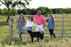 Family pictures at their ranch