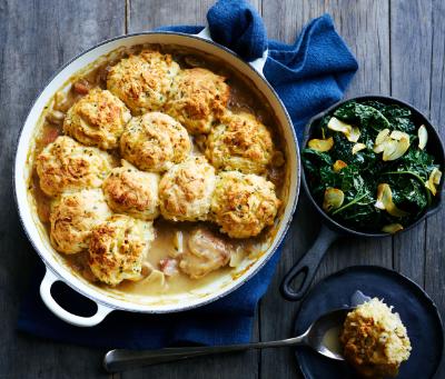 Chicken, Mushroom and Gruyere Cobbler