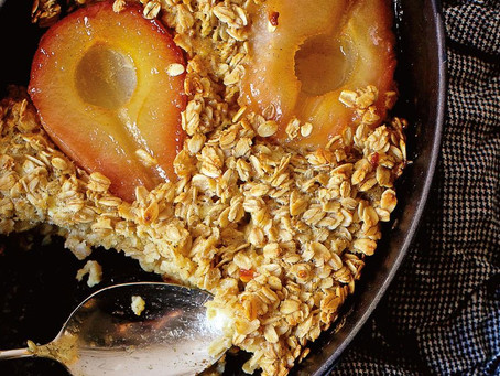Butterscotch Pear and Oat Pudding