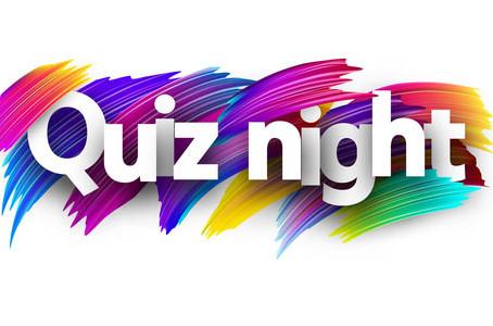 Quiz night Sunday 9th August 2020
