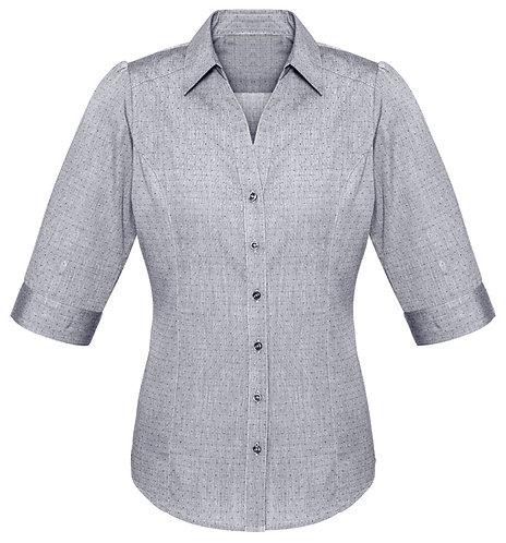 Ladies Trend 3/4 Sleeve Shirt - Silver