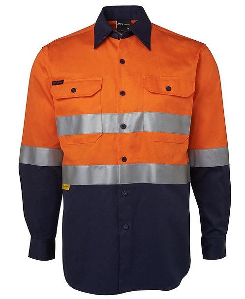 Hi Vis (D+N) L/S 190G Shirt - Orange/Navy