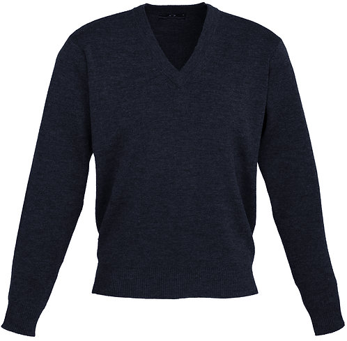 Mens 50/50 Woolmix Pullover - Navy