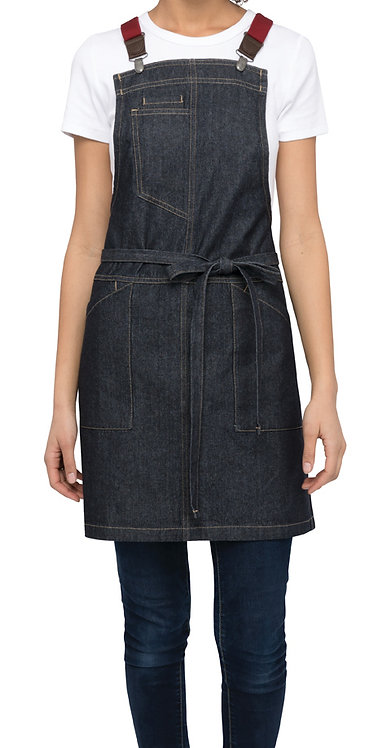Berkeley Petite Dark Indigo Bib Apron - Straps Included