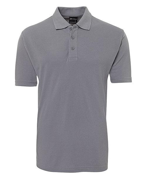 Mens Basic Pique Polo SS - Grey