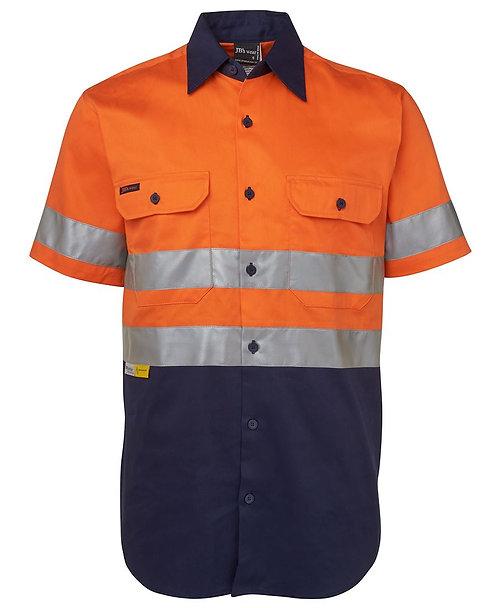 Hi Vis S/S (D+N) 190G Shirt - Orange / Navy