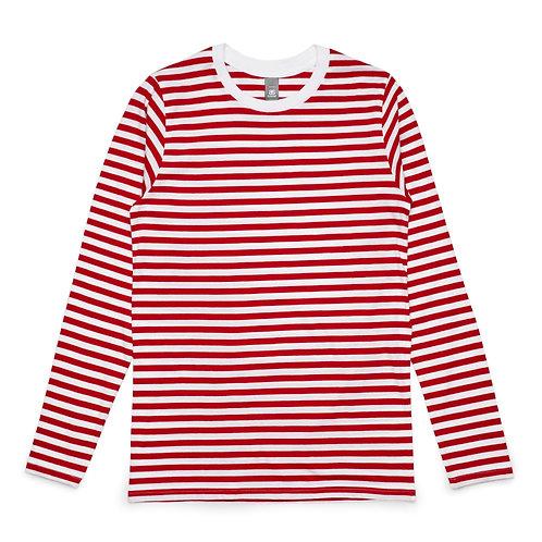AS Colour Stripe LS Tee - Red White