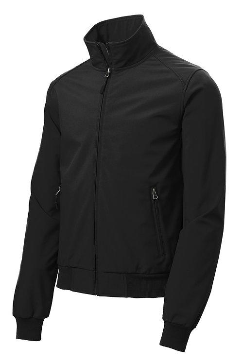 Unisex Soft Shell Bomber Jacket - Black