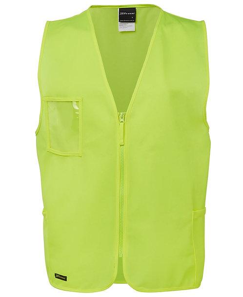 Hi Vis Zip Safety Vest - Lime