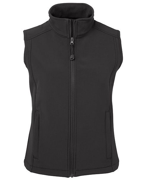 Ladies Layer Soft Shell Vest Charcoal