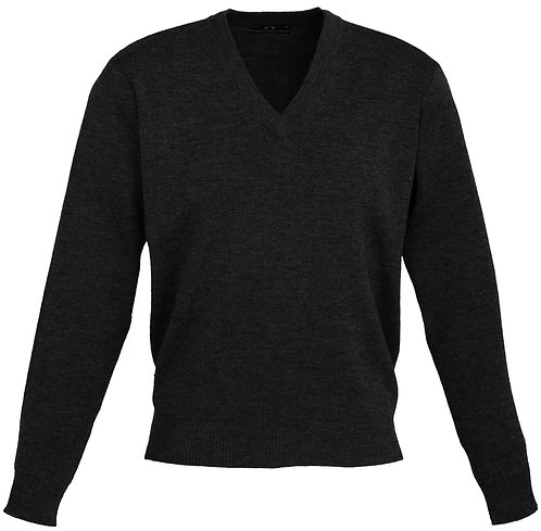 Mens 50/50 Woolmix Pullover - Black