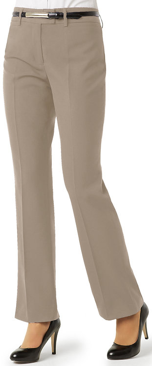 Womens Classic Flat Front Pant - Taupe