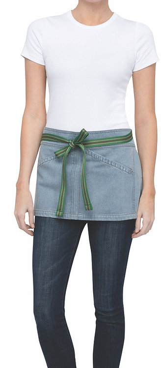 Berkeley Sky Blue Short Waist Apron - Straps Included