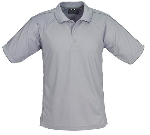 Mens Resort Polo - Grey/Charcoal