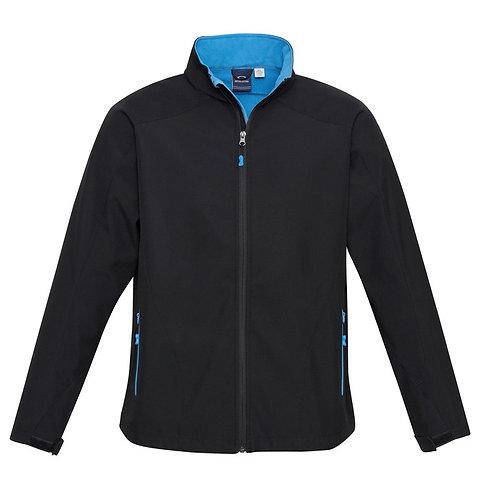 Mens Geneva Jacket - Black/Cyan