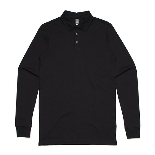 AS Colour Chad Long Sleeve Polo - Black
