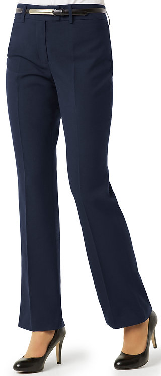 Womens Classic Flat Front Pant - Navy