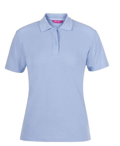 Ladies Basic Pique SS Polo - Sky Blue