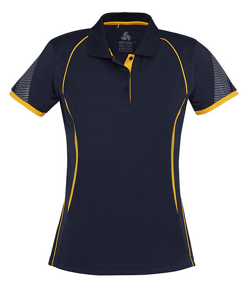 Ladies Razor Polo - Navy/Gold