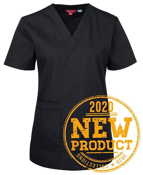 Ladies Essential Scrub Top - Black