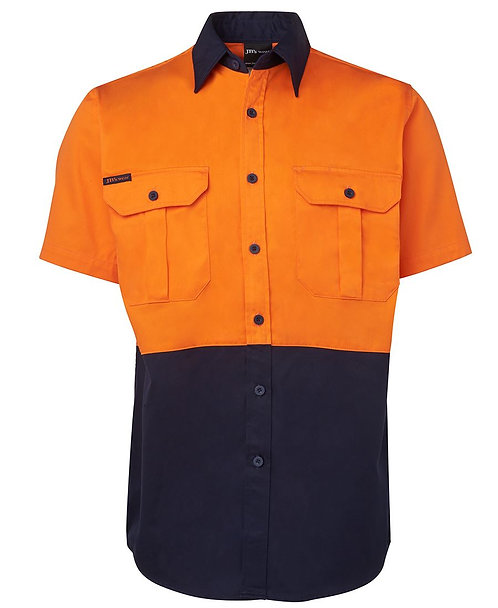 Hi Vis S/S 190G Shirt - Orange/Navy