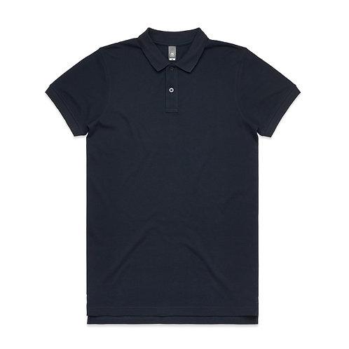 AS Colour Mens Pique Polo Navy 100% Cotton - Available From