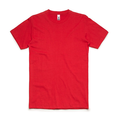 AS Colour Block Tee Red - From
