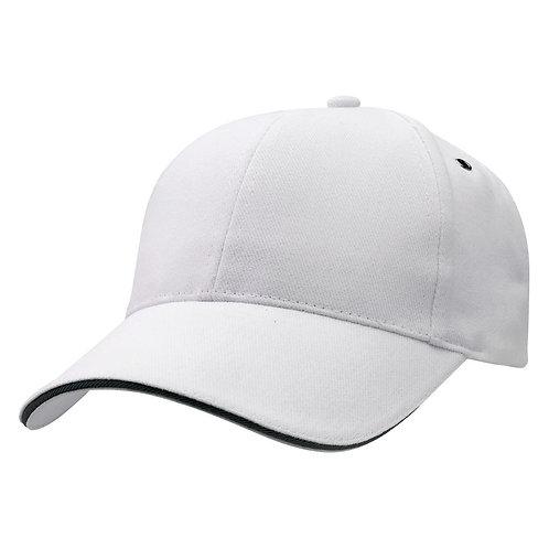 Sandwich Peak Cap White/Black -  Pack of 10