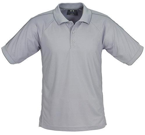Mens Resort Poly Polo -Grey Charcoal